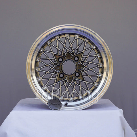 Rota Wheels Os Mesh 1580 4X110 20 73 Hyperblack with Polish Lip