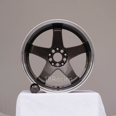 Rota Wheels P-45 R 1812 5X114.3 20  73 Gunmetal with Polish Lip.