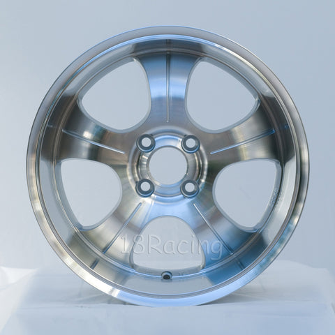 Rota Wheels PDC 1670 4X100 35 67.1 Full Polish Silver