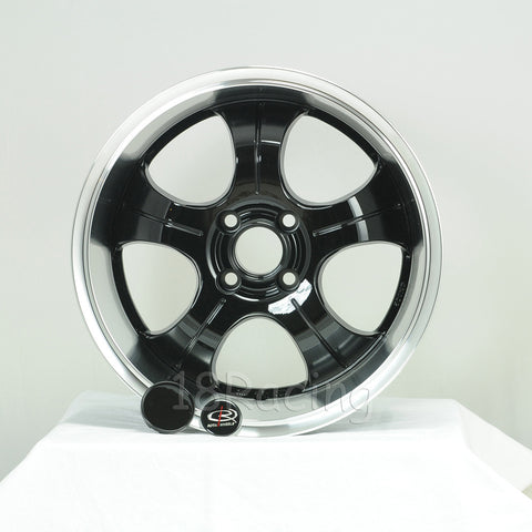 Rota Wheels PDC 1680 4X100 35 67.1 Black with Polish Lip