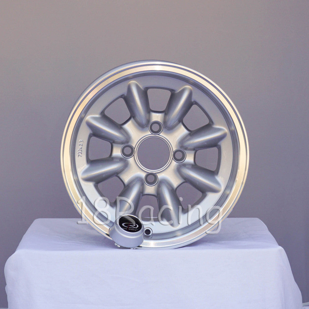 Rota Wheels RB 1370 4X101.65 4 67.1 Silver with Polish Lip