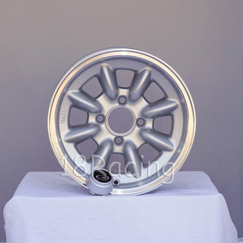 Rota Wheels RB 1380 4X100 4 67.1 Silver with Polish Lip