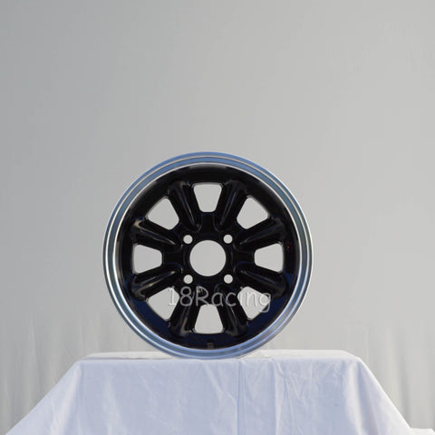 Rota Wheels RB 1380 4X100 20 67.1 Black with Polish Lip