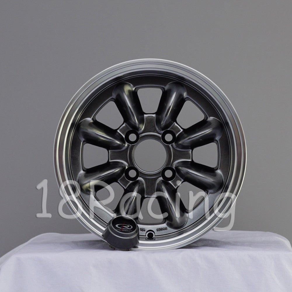 Rota Wheels RB 1380 4X114.3 4 73 Hyperblack with Polish Lip