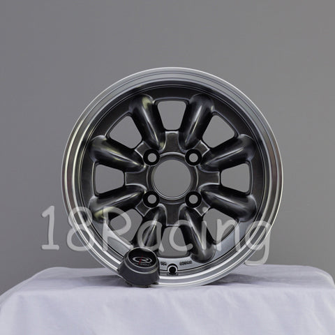 Rota Wheels RB 1380 4X100 4 67.1 Hyperblack with Polish Lip