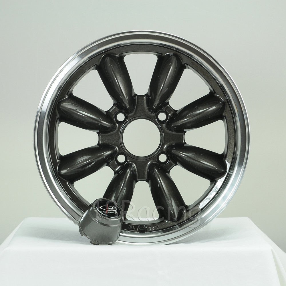 Rota Wheels RB 1560 4X95.25 25 57.1 Gunmetal with Polish Lip