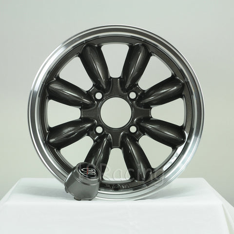 Rota Wheels RB 1560 4X114.3 25 73 Gunmetal with Polish Lip