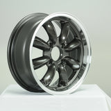 Rota Wheels RB 1560 4X101.65 15 73 Gunmetal with Polish Lip