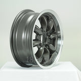 Rota Wheels RB 1580 4X100 35 67.1 Gunmetal with Polish Lip
