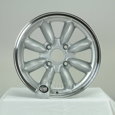Rota Wheels RB 1560 4X100 25 57.1 Silver with Polish Lip