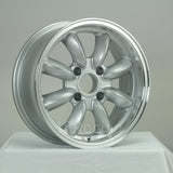 Rota Wheels RB 1560 4X114.3 4 73 Silver with Polish Lip