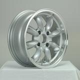 Rota Wheels RB 1560 4X95.25 25 57.1 Silver with Polish Lip