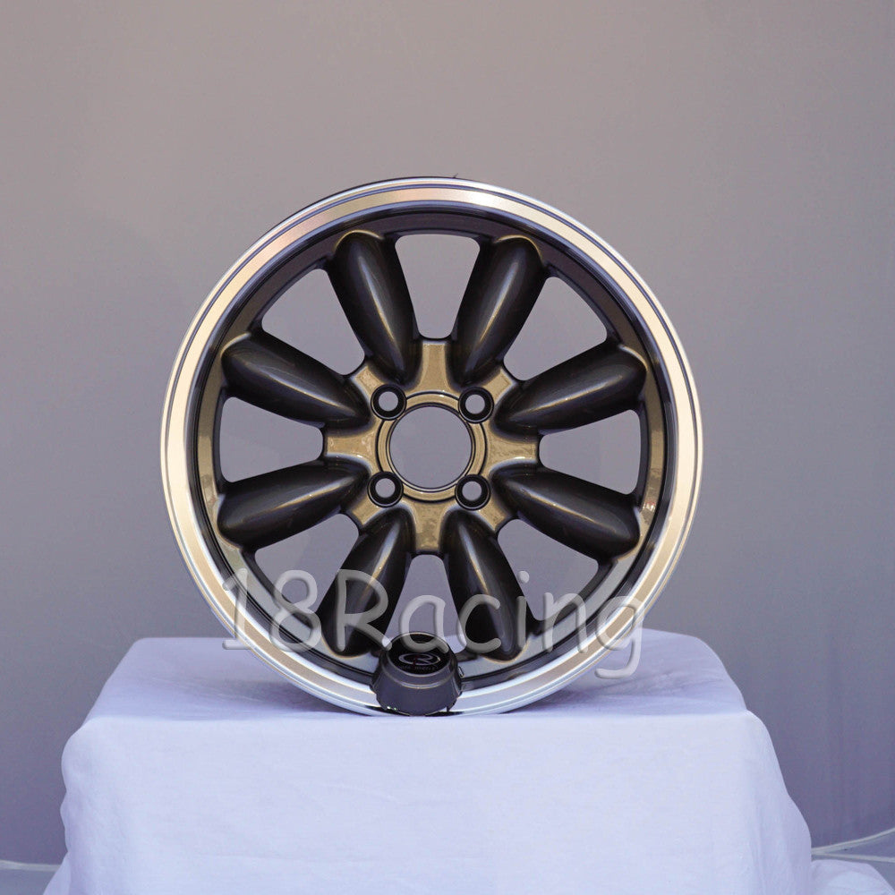 Rota Wheels RB 1560 4X95.25 25 73 Bronze with Polish Lip