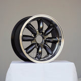 Rota Wheels RB 1560 4X108 25 73 Hyperblack with Polish Lip
