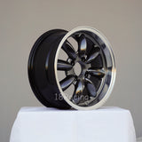 Rota Wheels RB 1570 4X100 25 57.1 Hyperblack with Polish Lip
