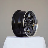 Rota Wheels RB 1560 4X114.3 25 73 Hyperblack with Polish Lip
