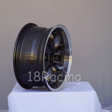 Rota Wheels RB 1570 4X100 25 57.1 Gunmetal with Polish Lip