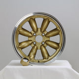 Rota Wheels RB 1570 4X95.25 25 57.1 Gold with Polish Lip