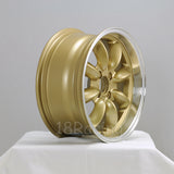 Rota Wheels RB 1570 4X100 25 57.1 Gold with Polish Lip