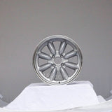 Rota Wheels RB 1570 4X100 25 57.1 Silver with Polish Lip