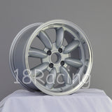 Rota Wheels RB 1580 4X100 35 67.1 Silver with Polish Lip