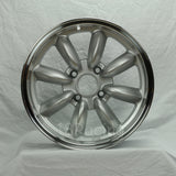 Rota Wheels RB 1670 4X95.25 25 57.1 Silver with Polish Lip