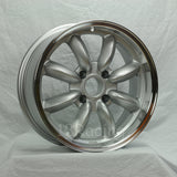 Rota Wheels RB 1670 4X100 40 56.1 Silver with Polish Lip