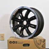 Rota Wheels RB 1570 4X114.3 4 73 Black with Polish Lip