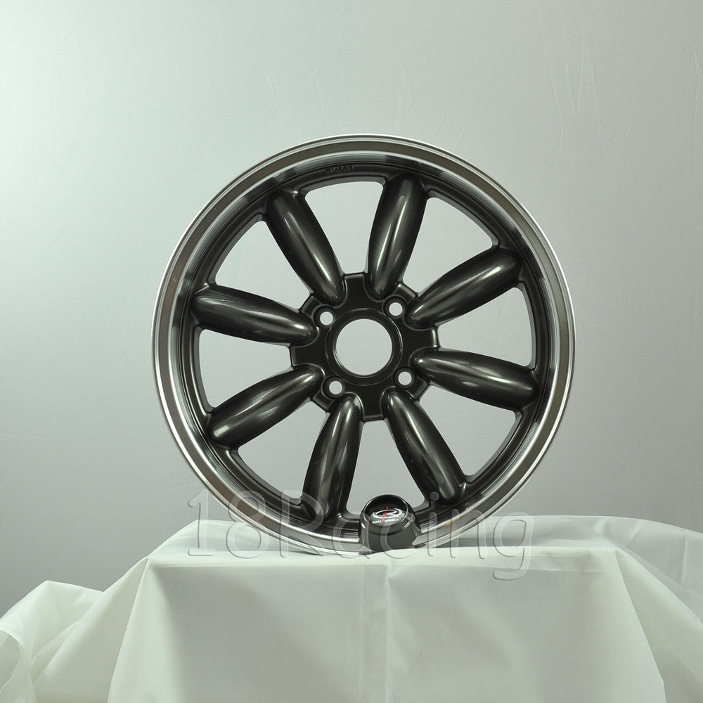 Rota Wheels RB 1785 4X114.3 4 73 Gunmetal with Polish Lip