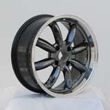 Rota Wheels RB 1775 4X114.3 4 73 Hyperblack with Polish Lip