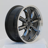 Rota Wheels RB 1785 4X114.3 4 73 Hyperblack with Polish Lip