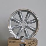 Rota Wheels RB 1775 4X100 45 56.1 Silver with Polish Lip