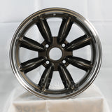Rota Wheels RB 1775 4X100 45 56.1 Gunmetal with Polish Lip