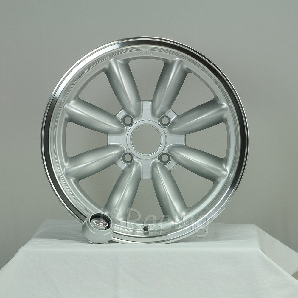 Rota Wheels RB 1680 4X114.3 10 73 Silver with Polish Lip