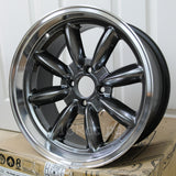 Rota Wheels RB 1680 4X114.3 10 73 Hyperblack with Polish Lip