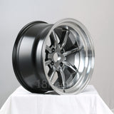 Rota Wheels RKR 1795 4X114.3 -20 73 Hyperblack with Polish Lip