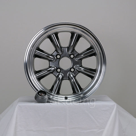 Rota Wheels RKR 1580 4X100 10 67.1 Hyperblack with Polish Lip