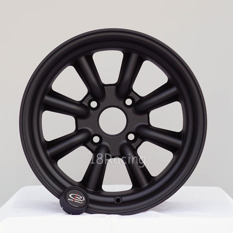 Rota Wheels RKR 1580 4X100 0 67.1 Flat Black