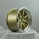 Rota Wheels RKR 1580 4X114.3 0 73 Gold with Polish Lip