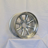 Rota Wheels RKR 1590 4X114.3 0 73 Silver with Polish Lip