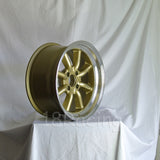 Rota Wheels RKR 1785 4X114.3 -10 73 Gold with Polish Lip