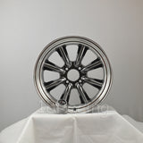Rota Wheels RKR 1785 4X114.3 -10 73 Hyperblack with Polish Lip