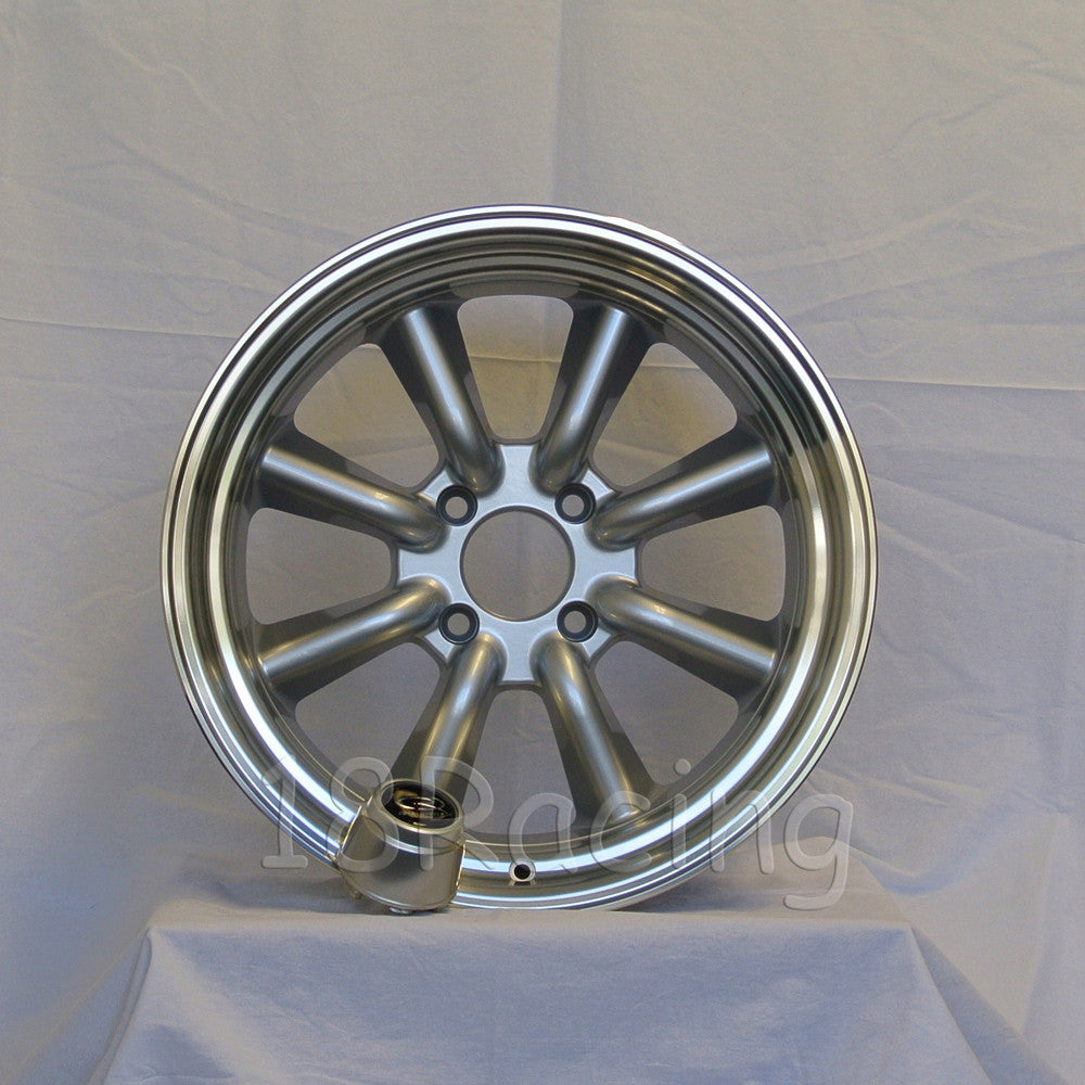Rota Wheels RKR 1785 4X114.3 -10 73 Silver with Polish Lip