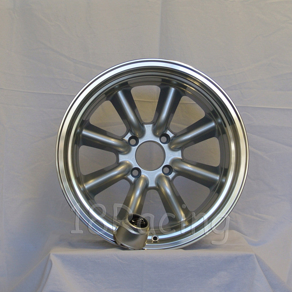 Rota Wheels RKR 1795 4X114.3 -20 73 Silver with Polish Lip