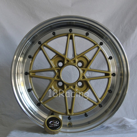 Rota Wheels SA Racing 1565 4X100 40 67.1 Tommy Gold with Polish Lip