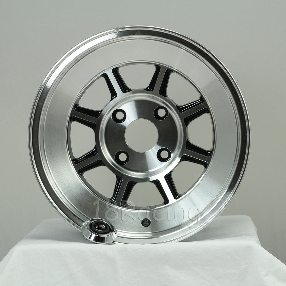 Rota Wheels Shakotan 1580 4X100 0 67.1 Full Polish Black