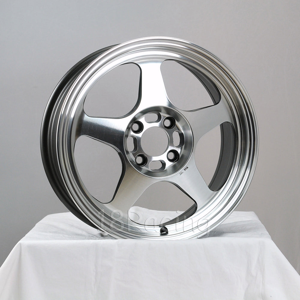 Rota Wheels Slipstream 1575 4X108 40 63.35 Full Polish Gunmetal   About 12.25 Lbs
