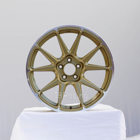 Rota Wheels STW 1780 5x100 44 73 Gold with Polish Lip