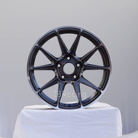 Rota Wheels STW 1780 5x100 44 73 Hyperblack with Polish Lip