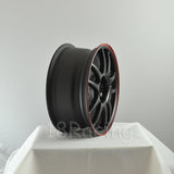 Rota Wheels Torque 1670 4X100 40 67.1 Flat Black with Red Line